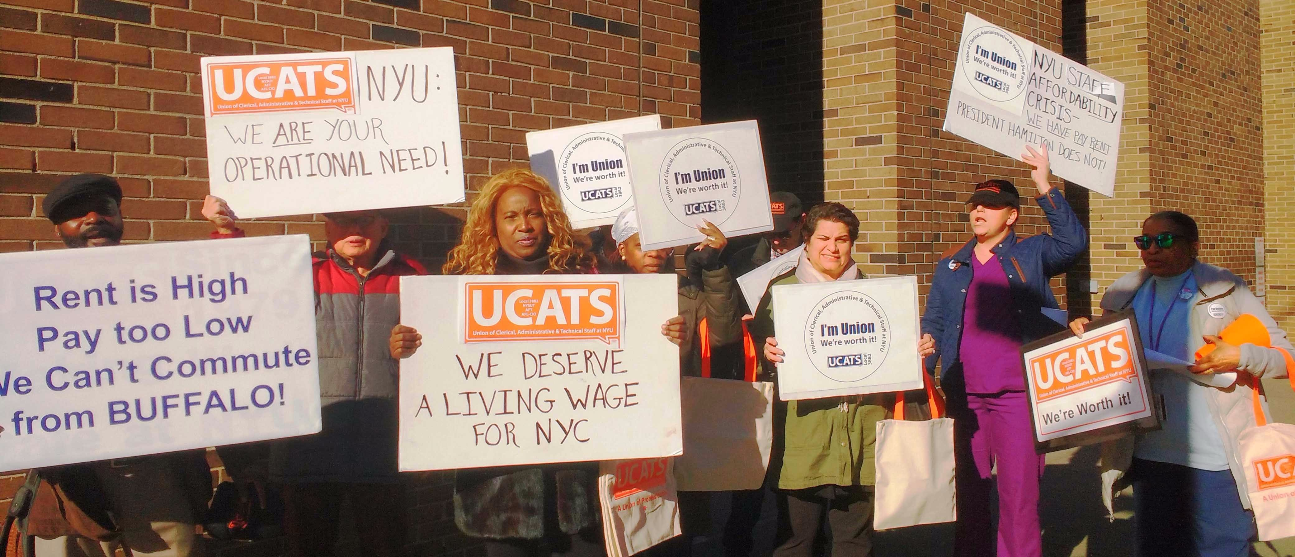 November 29: UCATS members from the Colleges of Dentistry and Nursing rallied for a fair contrat on 24th Street and 1st Ave.